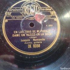 Discos de pizarra: JOAQUÍN NUMANCIA JOTAS DISCO DE PIZARRA. Lote 294946533