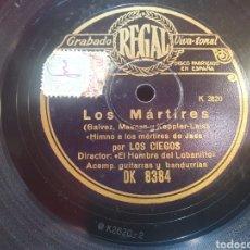 Discos de pizarra: LOS MARTIRES DISCO DE PIEDRA. Lote 294946983