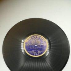 Discos de pizarra: DISCO PIZARRA. POLYDOR. ELECTRICA RECORDING. POLONAISE Nº 1. MAZURKA Nº 4. CHOPIN. Lote 295394103