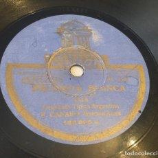 Discos de pizarra: DISCO PIZARRA 78 RPM ODEON. 182695. ORQUESTA ARGENTINA F. CANARO. PALOMITA BLANCA / LA BRISA. Lote 295501658