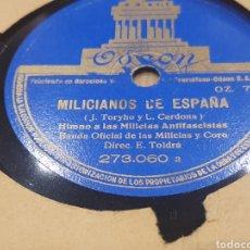 Discos de pizarra: 78 RPM REPÚBLICA ANTIFASCISTA. Lote 295517533