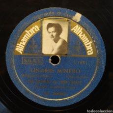 Discos de pizarra: LOS GALINDOS CON LUISA LINARES - LINARES MINERO / A LO LOCO, A LO LOCO. Lote 295568323