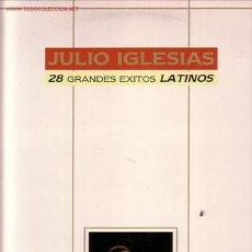 Discos de vinilo: JULIO IGLESIAS LP DOBLE 28 GRANDES EXITOS LATINOS. Lote 14805645