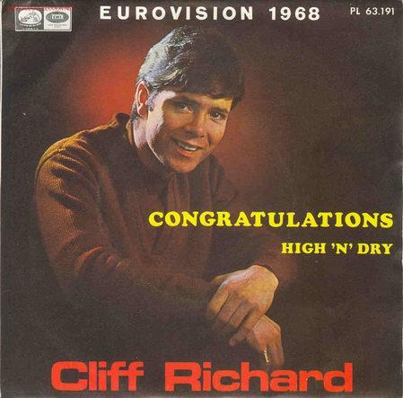 UXV CLIFF RICHARD - EUROVISION 1968 - SINGLE 45 RPM (Música - Discos - Singles Vinilo - Festival de Eurovisión)