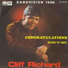 Discos de vinilo: UXV CLIFF RICHARD - EUROVISION 1968 - SINGLE 45 RPM. Lote 27601853