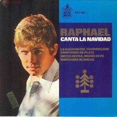 Discos de vinilo: UXV RAPHAEL - TEMA DE AMOR Y CANCION DE NAVIDAD . Lote 1479480