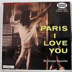 Discos de vinilo: PARIS I LOVE YOU (80 PARISIAN FAVORITES - INSTRUMENTAL) LP33. Lote 756714