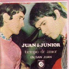 Discos de vinilo: JUAN & JUNIOR SINGLE. Lote 17822948