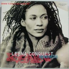 Discos de vinilo: LEENA CONQUEST AND HIP HOP FINGER ‎– BOUNDARIES GERMANY 1994 NATURAL RESPONSE. Lote 206186160
