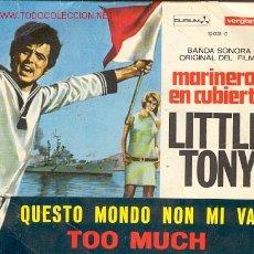 Discos de vinilo: LITTLE TONY - BANDA SONORA ORIGINAL DEL FILM - MARINEROS EN CUBIERTA. Lote 26736239