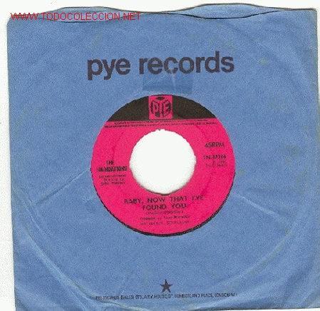 THE FOUNDATIONS - PYE, 1967. INGLES BABY,NOW THAT I'VE FOUND YOU / COME ON BACK TO ME (Música - Discos - Singles Vinilo - Pop - Rock Internacional de los 50 y 60)