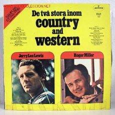 Discos de vinilo: DE TVA STORA INOM COUNTRY AND WESTERN LP33. Lote 772913