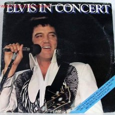 Discos de vinilo: ELVIS PRESLEY ( ELVIS IN CONCERT ) ''RECORDED ON TOUR JUNE,1977'' DOBLE LP33 USA-1977 RCA. Lote 784793