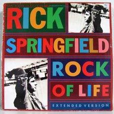 Discos de vinilo: RICK SPRINGFIELD ( ROCK OF LIFE ) MAXISINGLE 45RPM. Lote 786876