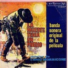 Discos de vinilo: LA MUERTE TENIA UN PRECIO DISCO EP BANDA SONORA ORIGINAL. Lote 17397254