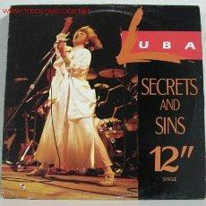Discos de vinilo: LUBA ( SECRETS AND SINS ) MAXISINGLE 45RPM. Lote 788262
