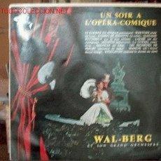 Discos de vinilo: WAL - BERG. Lote 1498118