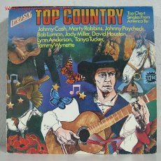 Discos de vinilo: TOP COUNTRY (JOHNNY CASH,MARTY ROBBINS,JOHNNY PAYCHECK,TANYA TUCKER,BOB LUMAN...) LP33. Lote 10836453