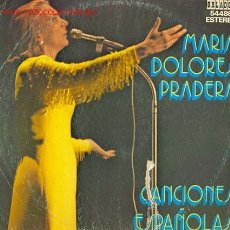 Discos de vinilo: MARIA DOLORES PRADERA - CANCIONES ESPAÑOLAS. Lote 23995521