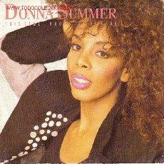 Discos de vinilo: DONNA SUMMER DISCO SINGLE PROMOCIONAL. Lote 6005199