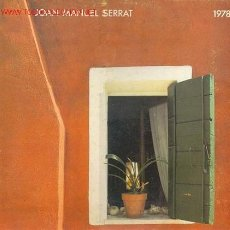 Discos de vinilo: JOAN MANUEL SERRAT - 1978. Lote 23864544