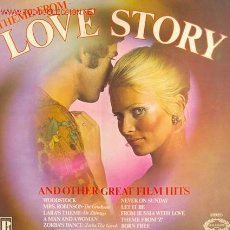 Discos de vinilo: LOVE STORY - WOODSTOCK - FROM RUSSIA WITH LOVE - STRANGERS IN THE NIGTH, ETC.. Lote 25834112