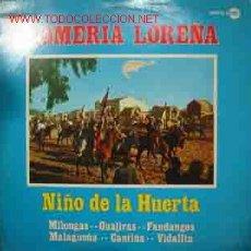 Discos de vinilo: NIÑO DE LA HUERTA: ROMERIA LOREÑA. Lote 287658588