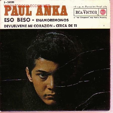 PAUL ANKA DISCO EP ESO BESO 1962 SPA (Música - Discos de Vinilo - EPs - Pop - Rock Internacional de los 50 y 60)