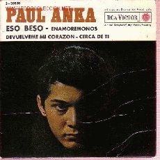 Discos de vinilo: PAUL ANKA DISCO EP ESO BESO 1962 SPA. Lote 9597514