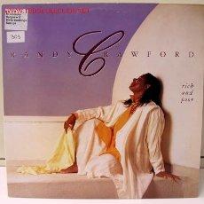 Discos de vinilo: RANDY CRAWFORD ( RICH AND POOR ) 1989 - GERMANY LP33 WARNER BROS RECORDS. Lote 886786
