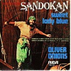 Discos de vinilo: SANDOKAN DISCO SINGLE BANDA SONORA TV. Lote 20976184