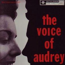 Discos de vinilo: AUDREY MORRIS DISCO LP THE VOICE OF. Lote 23577581