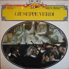 Discos de vinilo: GIUSEPPE VERDI : RIGOLETTO, SELECCIÓN. Lote 20270204