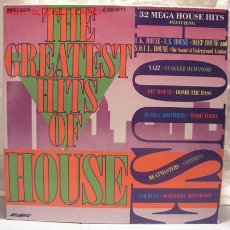 Discos de vinilo: THE GREATEST 32 HITS OF HOUSE(YAZZ,JUNGLE BROTHERS,S'EXPRESS,COLDCUT,BEATMASTERS,HIT HOUSE)DOBLE LP3. Lote 10837078