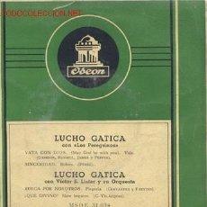 Discos de vinilo: EP 45 RPM / LUCHO GATICA / VAYA CON DIOS/SINCERIDAD / RUEGA POR NOSOTROS/QUE DIVINO. Lote 14568294