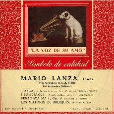Discos de vinilo: MARIO LANZA. Lote 968317