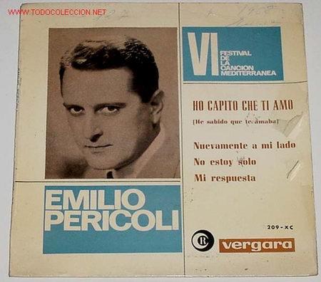 ANTIGUO DISCO DE EMILIO PERICOLI (Música - Discos - LP Vinilo - Canción Francesa e Italiana)