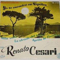 Discos de vinilo: ANTIGUO DISCO DE RENATO CESARI. Lote 70895
