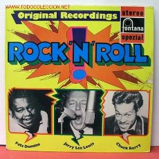 Discos de vinilo: ORIGINAL RECORDINGS ' ROCK 'N' ROLL ' (FATS DOMINO, JERRY LEE LEWIS & CHUCK BERRY) LP33 . Lote 974537