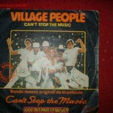 Discos de vinilo: DISCO SINGLE VILLAGE PEOPLE-BANDA SONORA PELICULA . Lote 71643