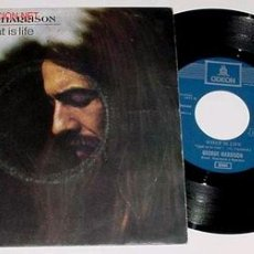 Discos de vinilo: ANTIGUO DISCO SINGLE - GEORGE HARRISON - 1971. Lote 25850252