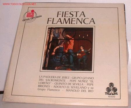 DISCOS: DISCO LP FIESTA FLAMENCA (Música - Discos - LP Vinilo - Flamenco, Canción española y Cuplé)