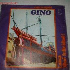 Discos de vinilo: ANTIGUO DISCO SINGLE -GINO- AÑO 1971.. Lote 193131