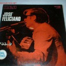 Discos de vinilo: LP JOSE FELICIANO -DAL VIVO- VOL. 2. AÑO 1970.. Lote 611835