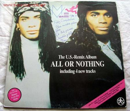 MILLI VANILLI (ALL OR NOTHING) LP33 (Música - Discos - LP Vinilo - Disco y Dance)