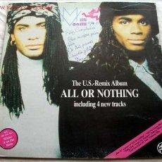 Discos de vinilo: MILLI VANILLI (ALL OR NOTHING) LP33. Lote 2007501