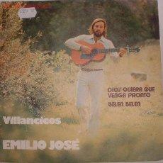 Discos de vinilo: DISCOS: DISCO SINGLE VILLANCOS DE EMILIO JOSE VV. Lote 2900303