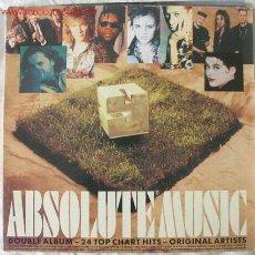 Discos de vinilo: ABSOLUTE MUSIC 9 (SOUL II SOUL, DUSTY SPRINGFIELD, MILLI VANILLI, LISA STANSFIELD...) LP DOBLE 1990. Lote 995774