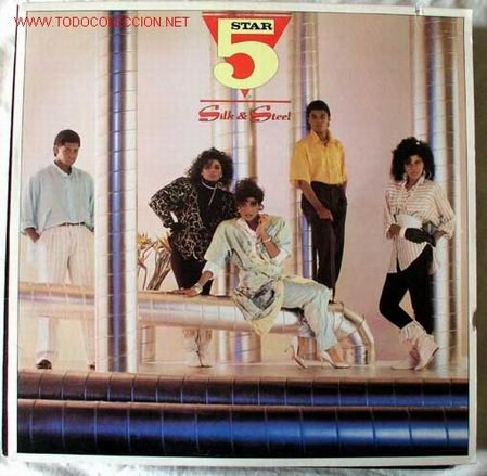 FIVE STAR (SILK & STEEL ) 1986 - GERMANY LP33 RCA (Música - Discos - LP Vinilo - Disco y Dance)