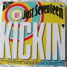 Discos de vinilo: GET JUST SEVENTEEN KICKIN' (24 DANCE FLOOR HITS INCLUDING) LP DOBLE. Lote 2256320
